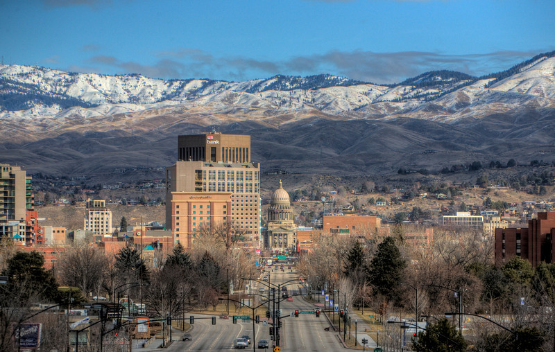 Downtown Boise as seen from the Train Depot