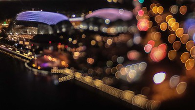 Bokeh shot from Marina Bay observation deck