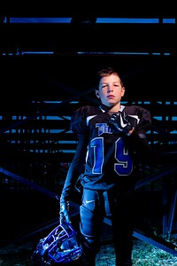 Thunder Ridge Titans Football Grid Kid Portrait