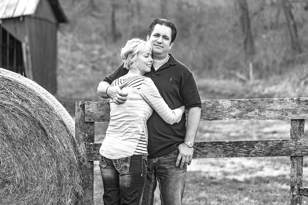 Bryan and Tiffany E-Session-37b&w