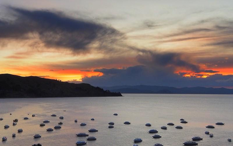 Sunset on Lake Titicaca, Copacabana