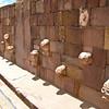 Тиуанако нижний храм Sewsubterraneo стена с головами