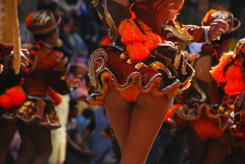 "The rump from a sassy and sexy performer during the Fiesta del Gran Poder - La Paz, Bolivia.  This is a travel photo from Fiesta del Gran Poder - La Paz, Bolivia.  To purchase this photo click on it or to view the rest of my gallery from Fiesta del Gran Poder click here. <a href=""http://nomadicsamuel.com"">http://nomadicsamuel.com</a>"