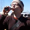 Yann enjoying the locally brewed soft drink.