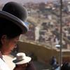 Cholita looking out over La Paz