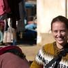 Emilie at the market.