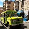 Typical Bolivian bus crawling around La Paz