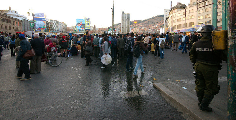 Protest by the disabled people of Bolivia.
