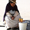 Old woman selling sugary water