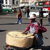 Selling Bolivian popcorn.