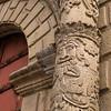 A pillar of Iglesia San Francisco.