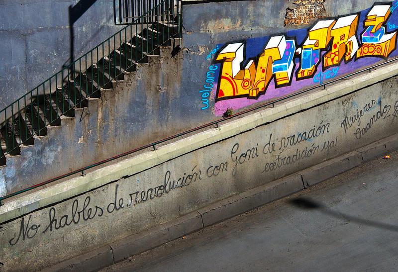 Propaganda beside an underpass close to Plaza San Fransico.