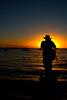 Yann taking sunset shot over Lake Titicaca.