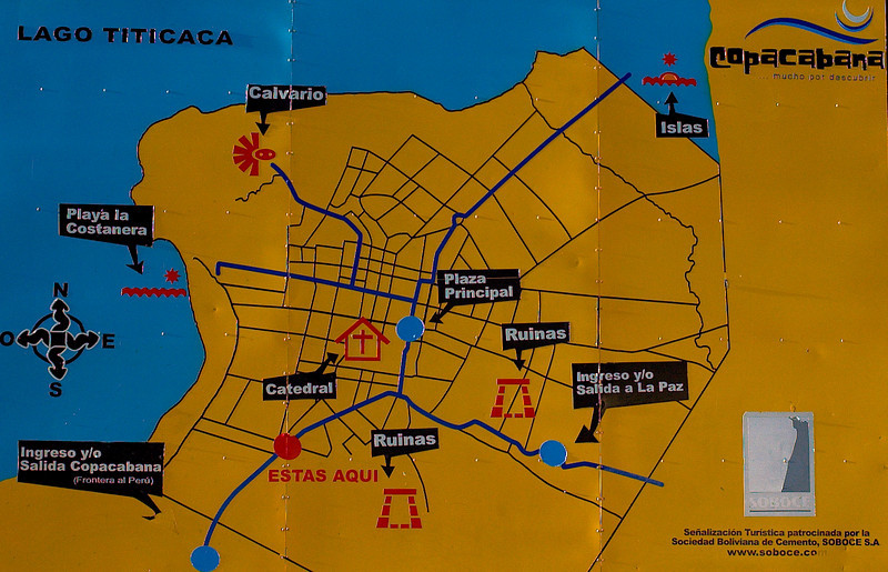 Map of Copacabana.