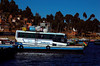 Our bus crossing Lake Titicaca