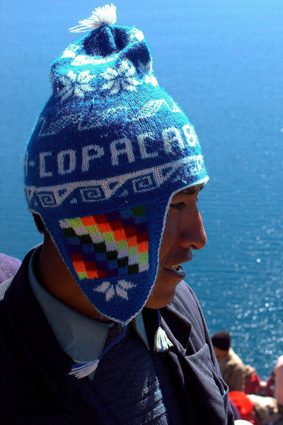 Tourist and his Copacabana hat
