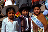 Children representing different regions of Bolivia.