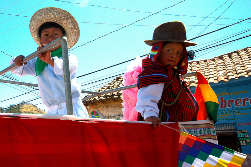 Bolivian National Day parade.