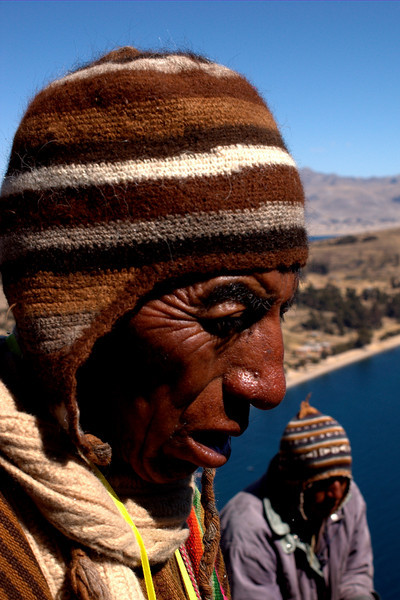 Shamans over Titicaca lake.