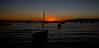 Sunset over Lake Titicaca.