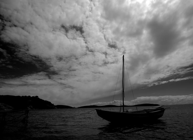 Boats are anchored at Cha'lla Village