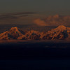 The Andes at sunset