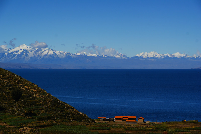 """Scenic views from the Bolivian side of Lake Titicaca.  This is a travel photo from Lake Titicaca, Bolivia. <a href=""""http://nomadicsamuel.com"""">http://nomadicsamuel.com</a>"""
