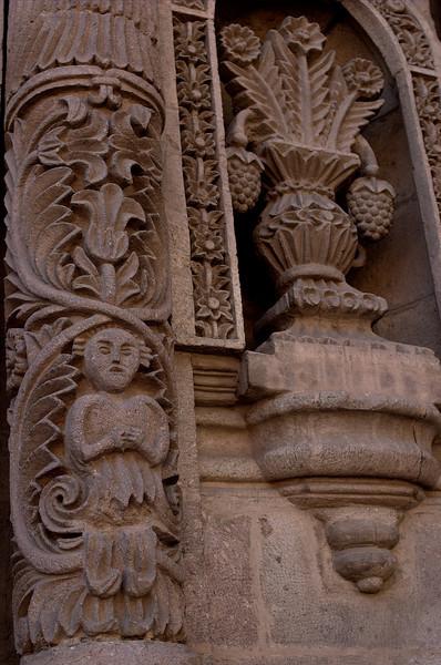Mestizo carvings on a Potosi church.