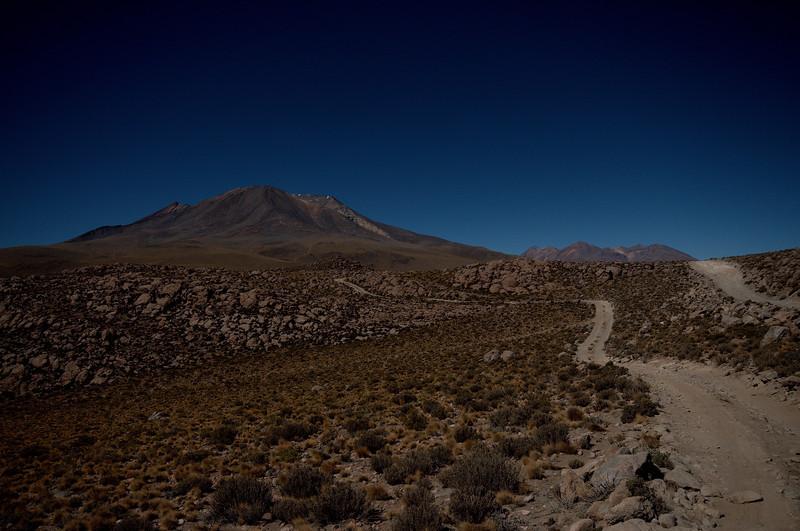 Roads crossing over the rocky terrain