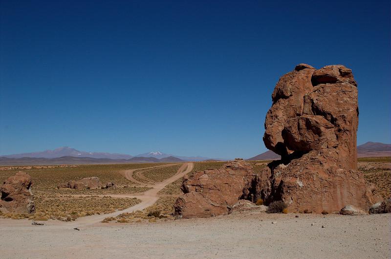 Road passing through the Valley of Rocks (Valles de Rocas).