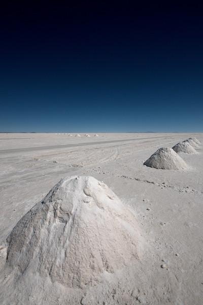 Piles of salt ready for transport.
