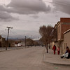 When we arrive in desolate Uyuni, it is cold and cloudy