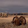 Abandoned train parts