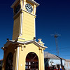 The clock tower is the central landmark of tiny Uyuni