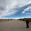 The dusty barren streets of Uyuni