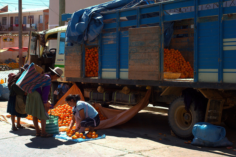 The produce market in Sucre