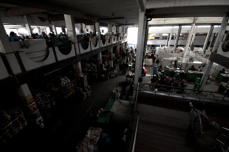 A view of the Sucre Market from the second floor.