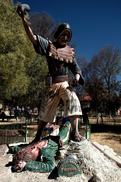 Statue in the main plaza.