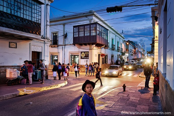 BOLIVIE. LE CENTRE-VILLE COLONIAL DE SUCRE.