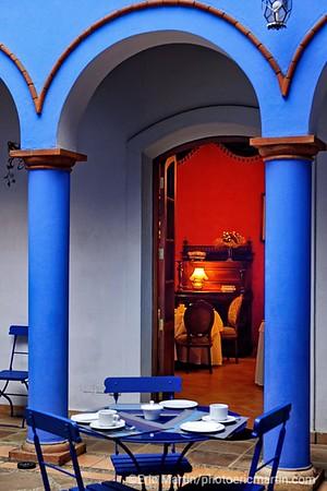 BOLIVIE. VILLE DE SUCRE. HOTEL EL PARADOR SANTA MARIA LA REAL