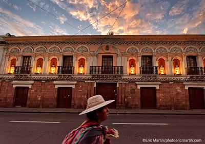 BOLIVIE. VILLE DE SUCRE. LE CENTRE-VILLE COLONIAL LA CASA DE LA CULTURA DANS LA RUE ANICETO ARCE