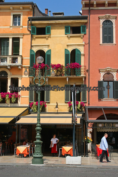 This restaurant was located in the town square of Bologna, Italy.