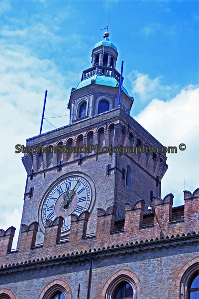 Interesting Clock and spire adds to the charm of this colorful area.