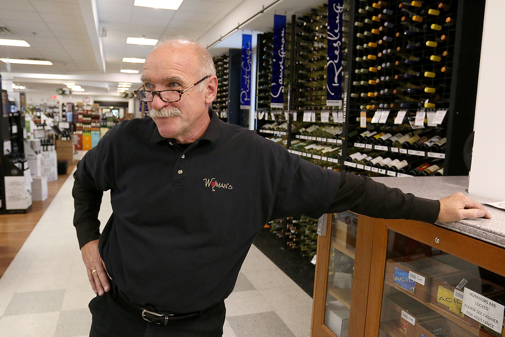 . Wyman\'s Liquors store owner pat Wyman talks about why he stays open during storms.  SENTINEL & ENTERPRISE/JOHN LOVE
