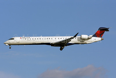 Delta Connection-Mesaba Airlines Bombardier CRJ900 (CL-600-2D24) N916XJ (msn 15154) DCA (Brian McDonough). Image: 905820.