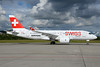 Bombardier's test and demo CS100 in Swiss colors
