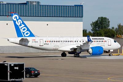 "Bombardier CSeries CS100 (BD-500-1A10) ""FTV1"" C-FBCS (msn 50001) YMX (Gilbert Hechema). Image: 913496."