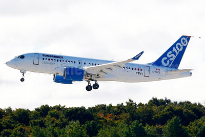 "Bombardier CSeries CS100 (BD-500-1A10) ""FTV1"" C-FBCS (msn 50001) YMX (Gilbert Hechema). Image: 913631."