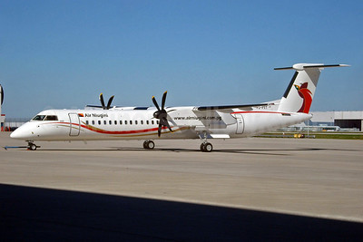 Replaced by Fokker 70s, last Q400 parked in 2016