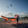 Kiteboarding beach